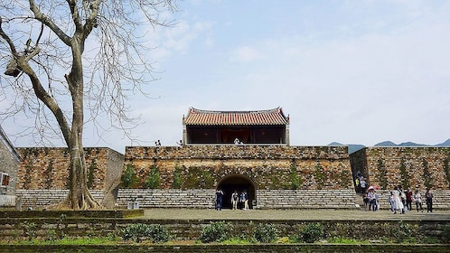 Tourists walking throughout the ancient city of Dapeng in Shenzhen