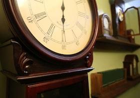 Show item 3 of 3. Close up of a clock