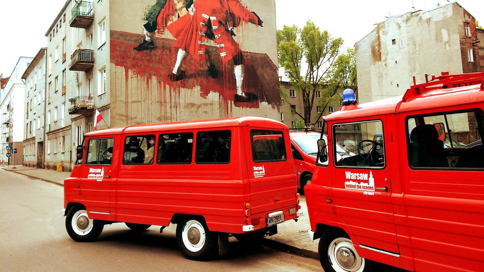 Historisk sightseeingtur i en retroliknande minibuss i liten grupp