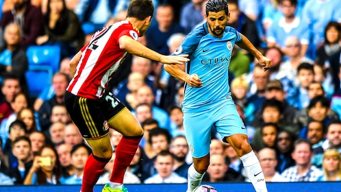 Nolito playing for Man City