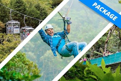 Costa Rican jungle zip line package