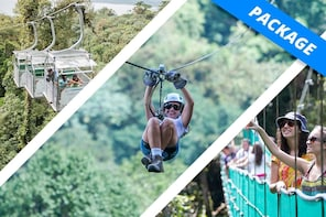 Adventure Package with Ziplines, Aerial Tram & Hanging Bridges