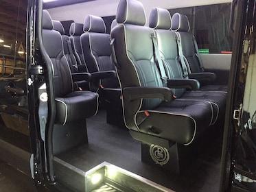 Seats inside a Shuttle bus