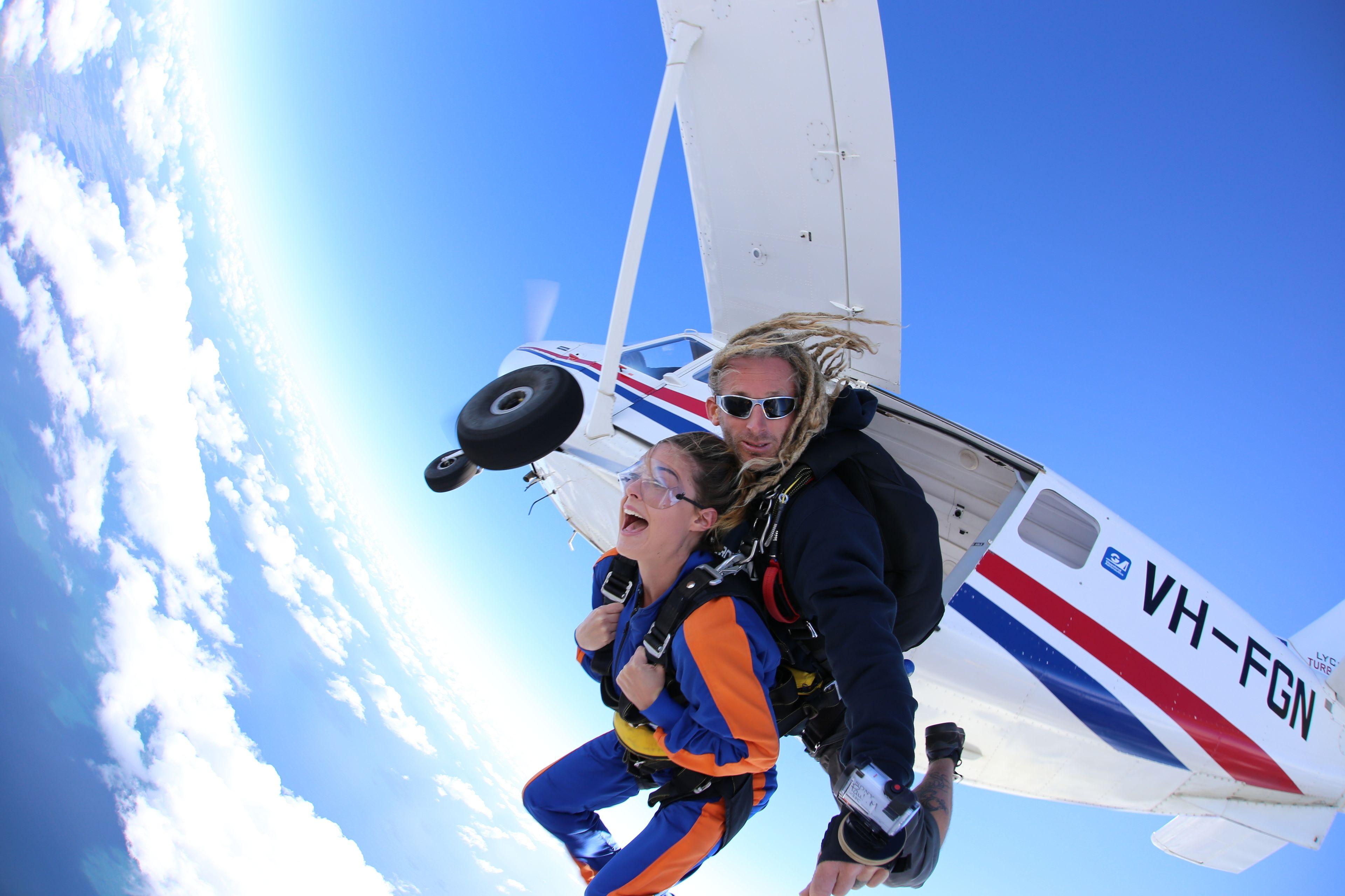 Tandem skydiving in Busselton