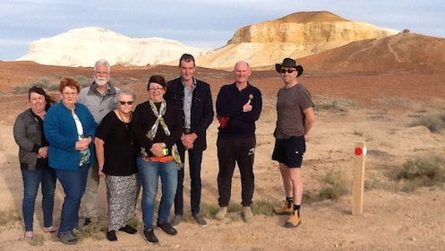Desert Cave Town tour group in South Australia