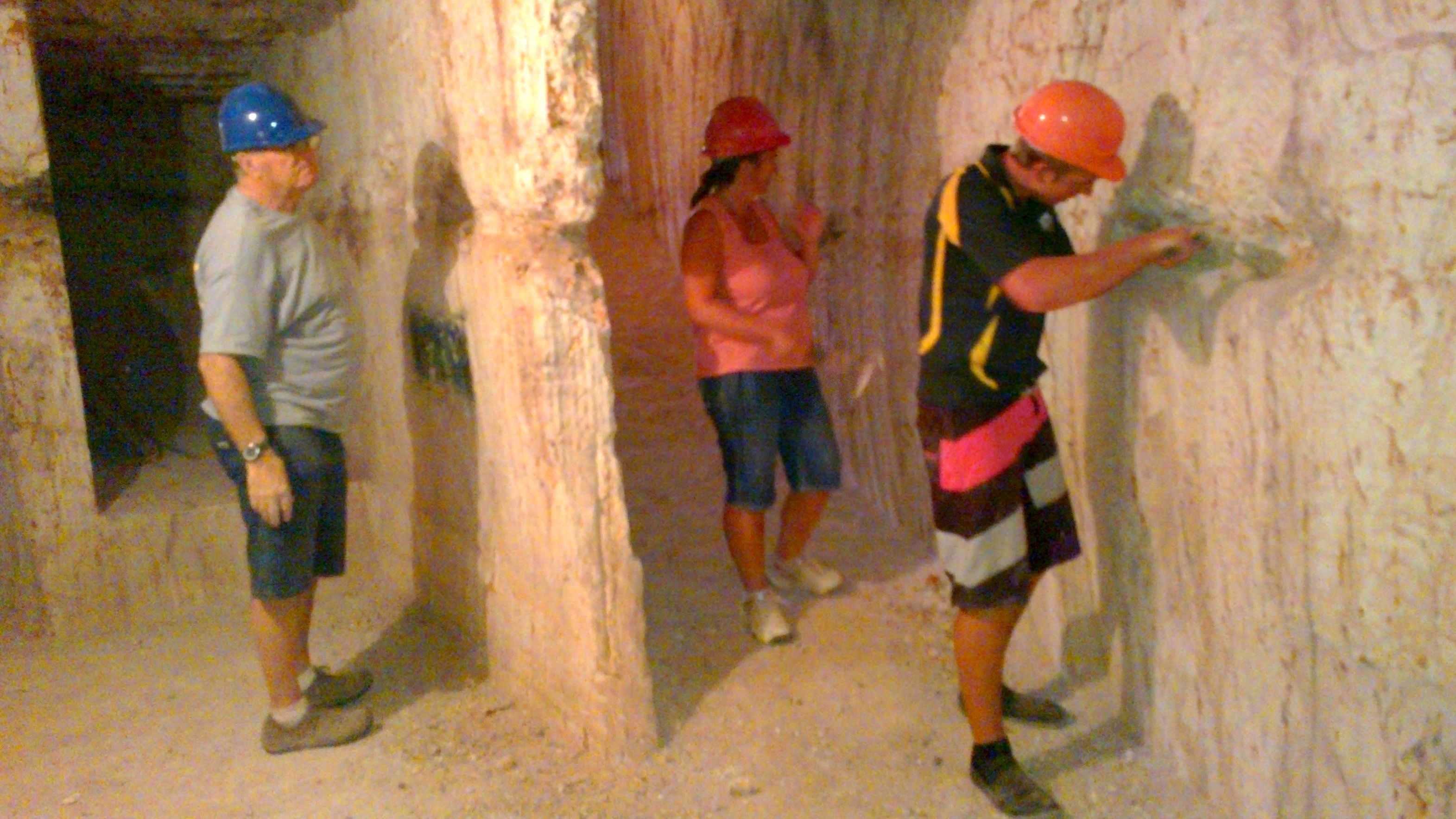 Group tours a cave in Adelaide