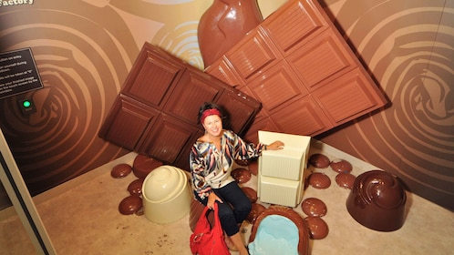Woman smiling at the Amazing World of Chocolate in Australia