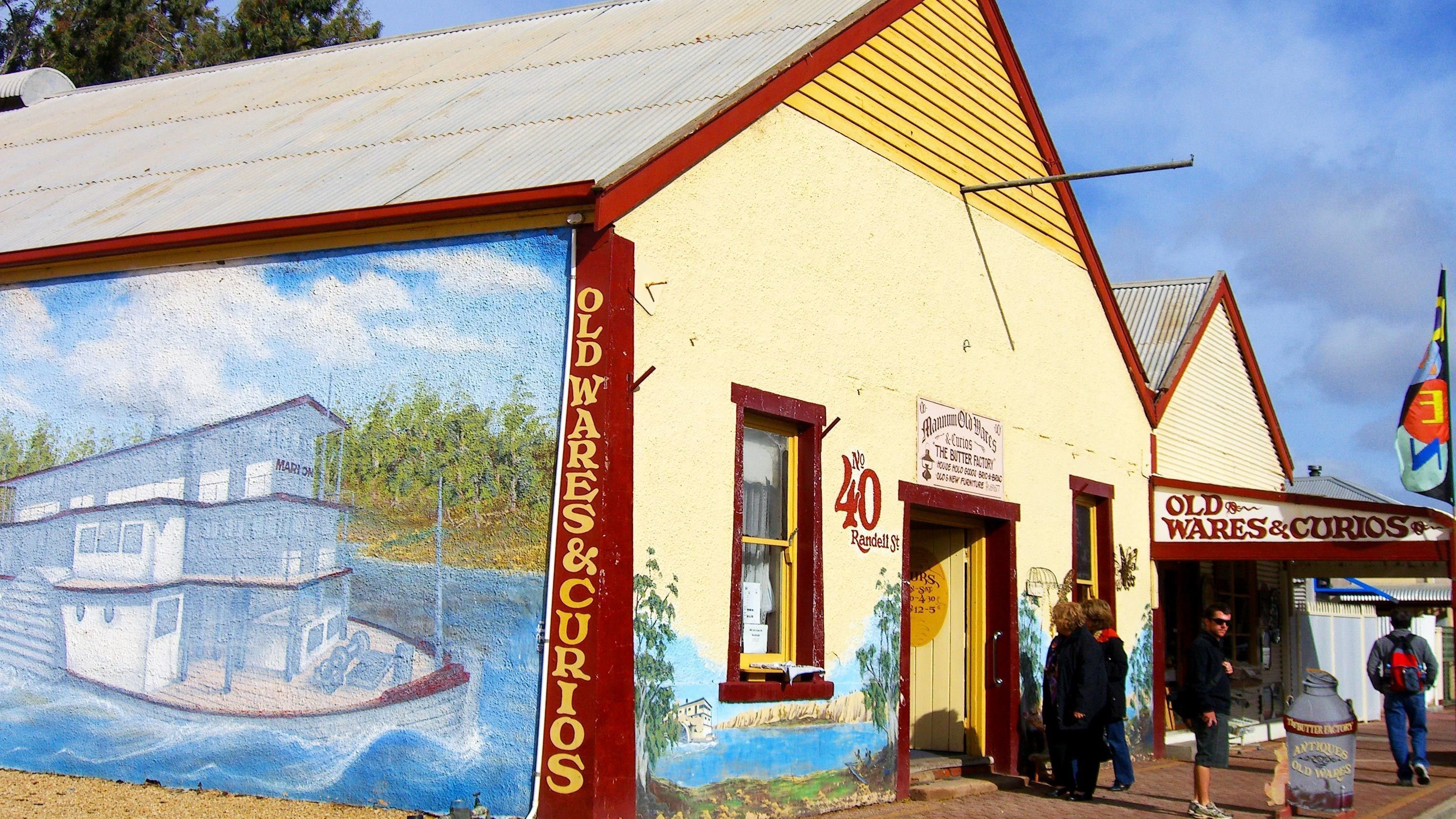 Colorful buildings in Victor Harbor