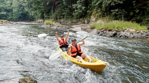 Ladies enjoying The Rucksack Rainforest Kayaking in Kuching, Malaysia