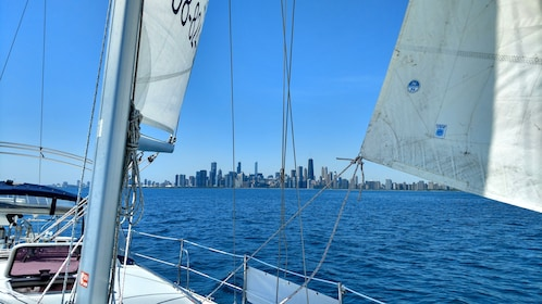 View of Chicago from sailboat