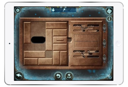 A puzzle in a Scavenger hunt game as seen on a tablet screen