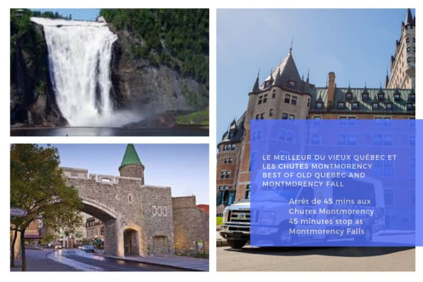 Show item 1 of 3. Best of Old Quebec City & Montmorency Falls Small Group Tour