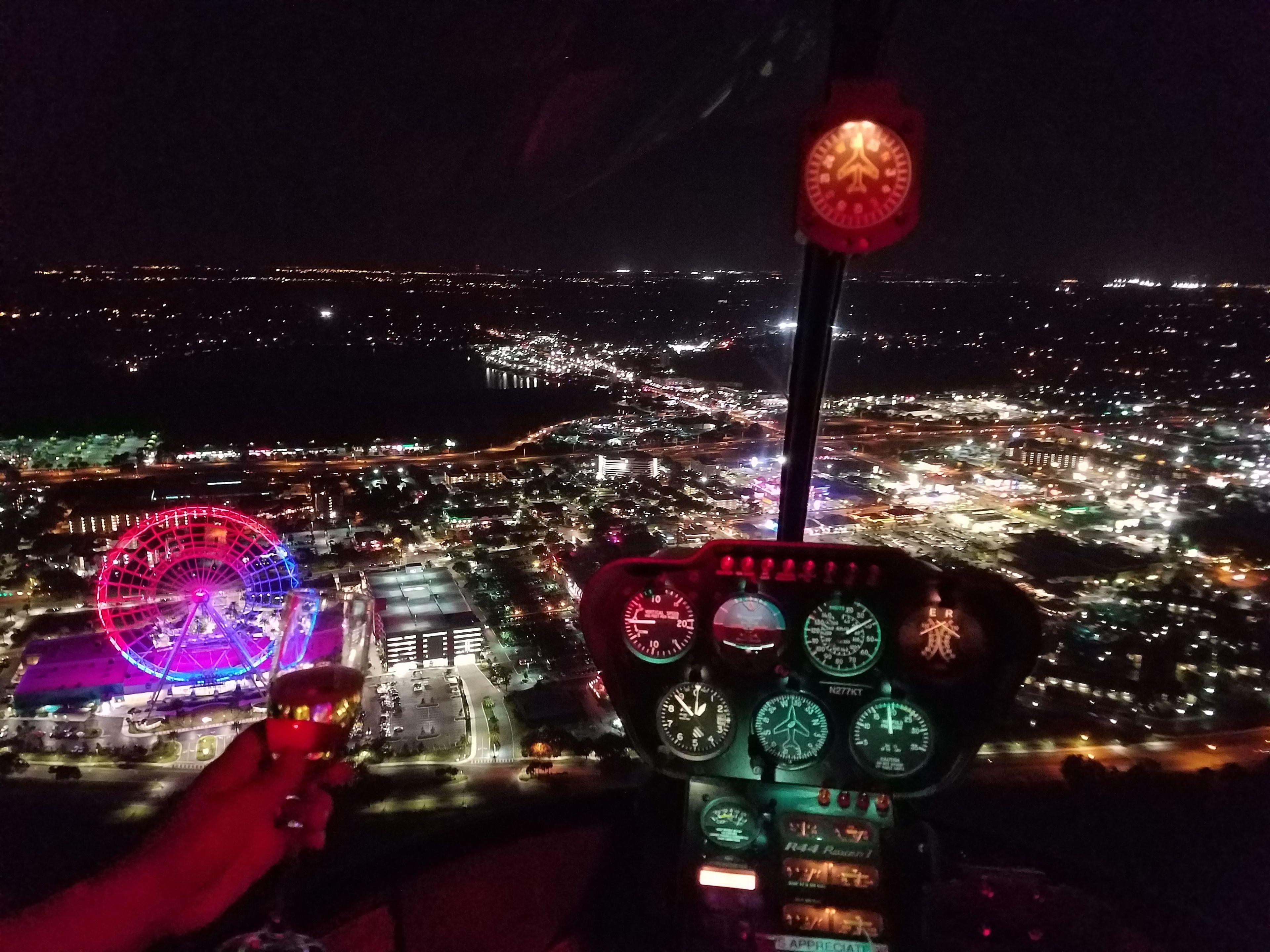 Evening Downtown Orlando & Theme park Flight