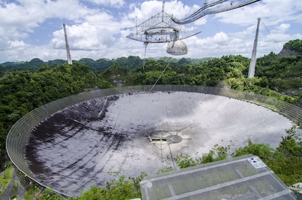 Large satellite dish at Arecibo Observatory