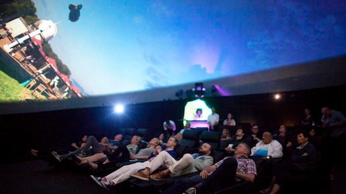 Audience watches video inside the Dome in Las Vegas