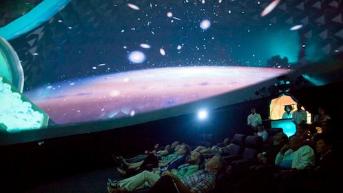 Audience watching video inside the Dome in Las Vegas