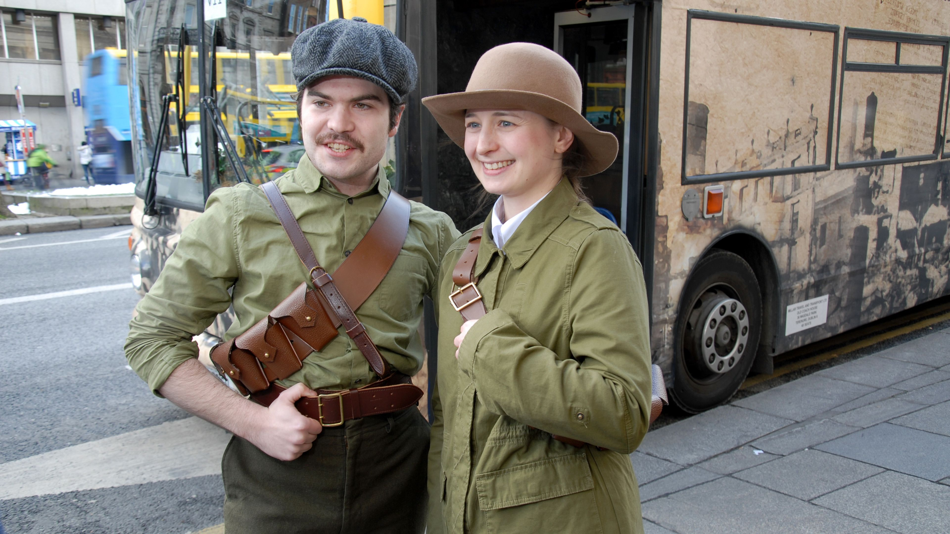 Tour guides in costume in Dublin