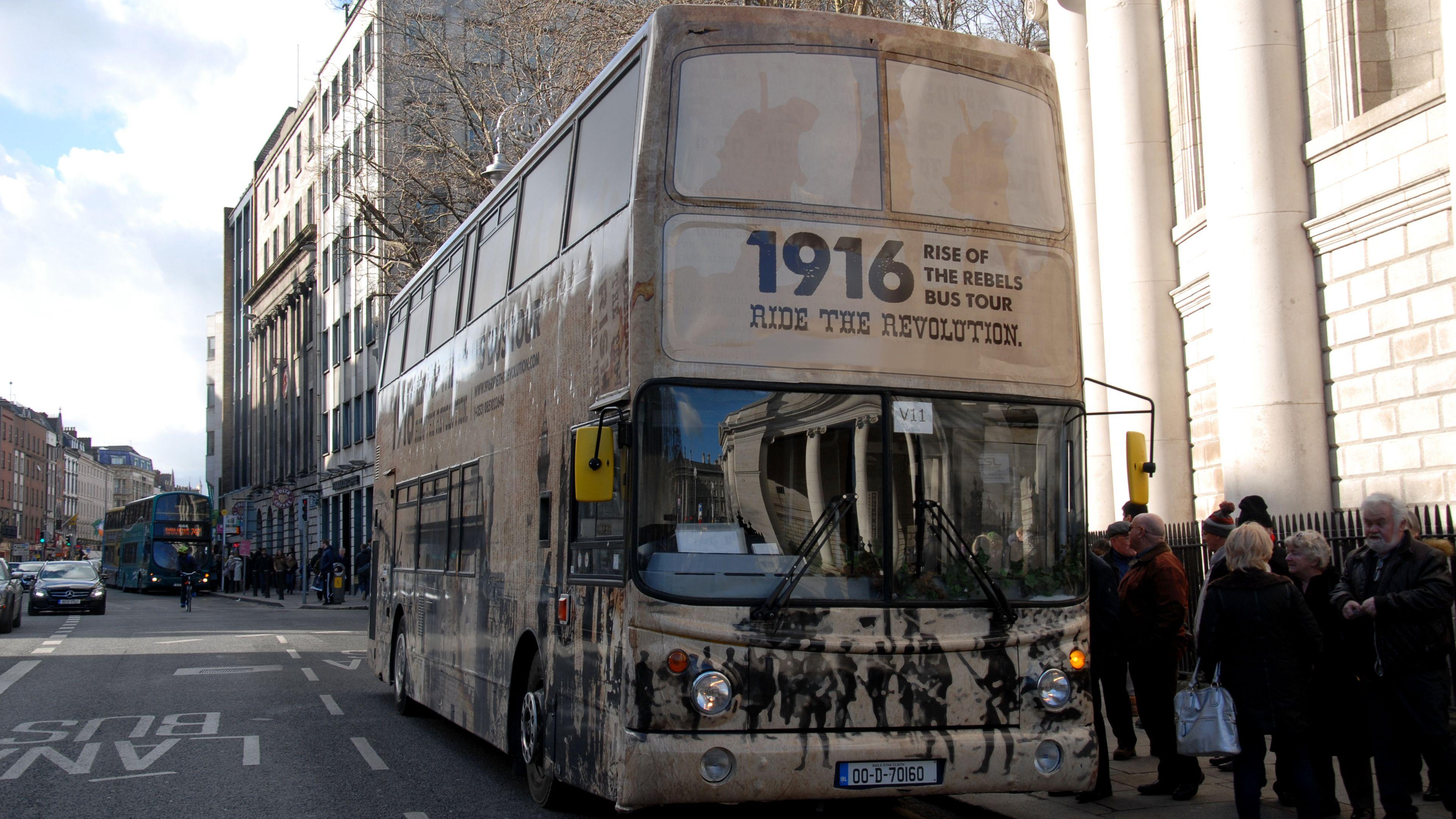 Tour bus in Dublin