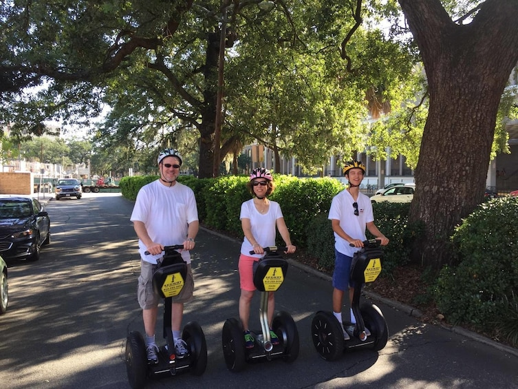 Show item 1 of 2. People on segways during tour of Savannah