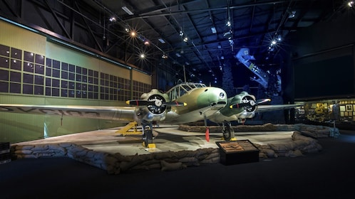 Airplane on display at Aviation Heritage Centre in New Zealand