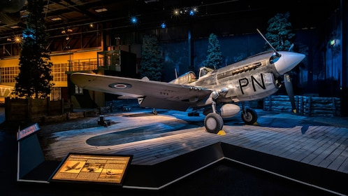 WWII plane on display at Omaka Aviation Heritage Centre in New Zealand