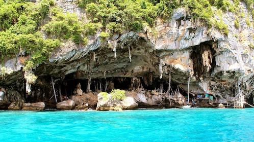 sea cave in Koh Phi Phi