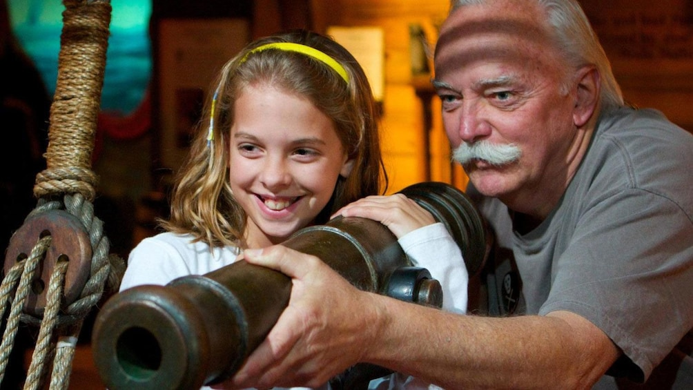 Father and daughter at Pirate and Treasure Museum in Florida