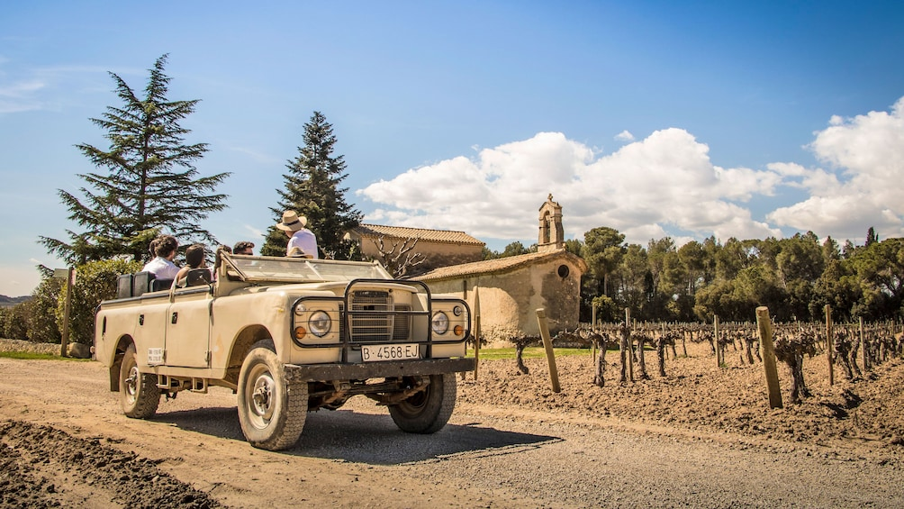 Jeep tour of a vineyard in Barcelona