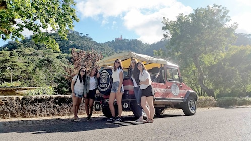 Group on the Jeep tour in Sintra and Cascais