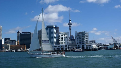 View of city from the water in Auckland