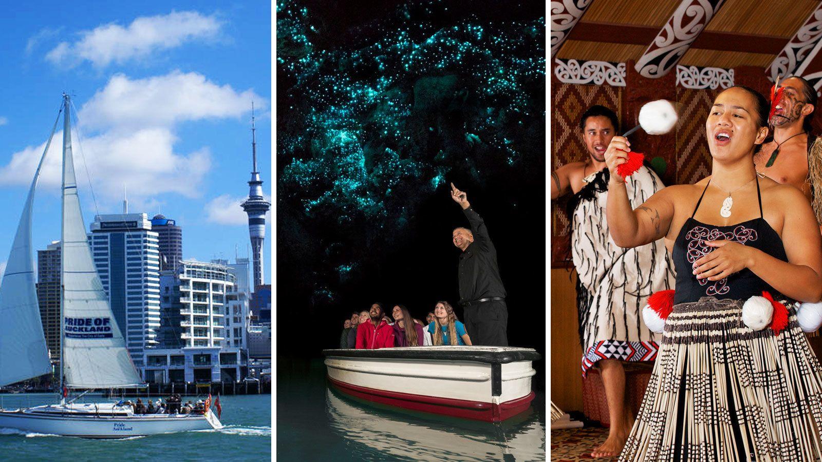 2-Day Combo: Auckland City, Waitomo Glowworm Caves & Rotorua
