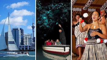 2-Day Combo: Auckland City, Waitomo Glowworm Caves & Rotorua