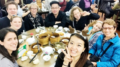 Group on the Guided Dim Sum Lunch in Hong Kong