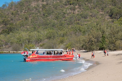 Boat mooring to beach at Paradise Cove Resort in Queensland