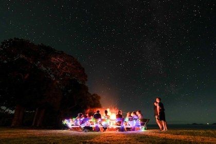 Late night bonfire on beach at Paradise Cove Resort in Queensland