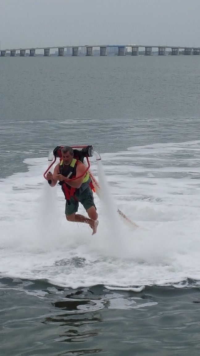 Man on a jetpack experience in Miami