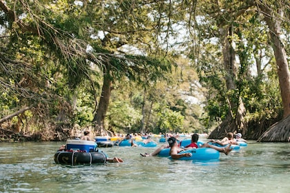 People floating down river in Texas