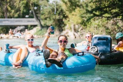 People enjoying river float in Texas