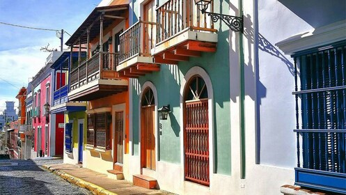 Row of colorful buildings in San Juan, Puerto Rico