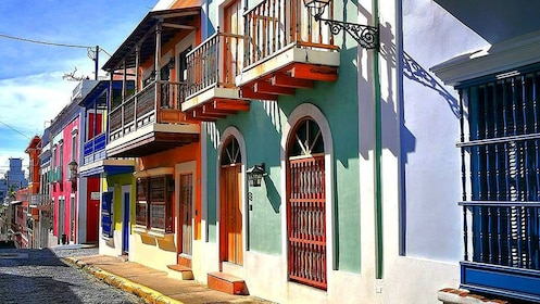 Row of colorful buildings in Puerto Rico