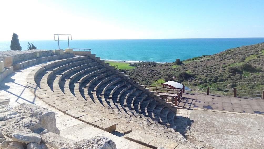 View from top of ancient amphitheater in Cyprus