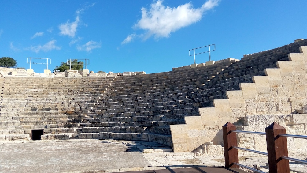 View of ancient amphitheater in Cyprus