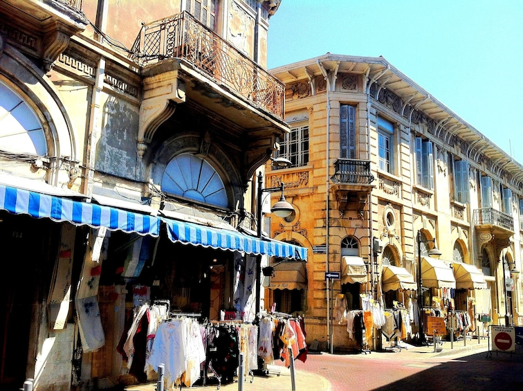 Show item 3 of 10. Street side shops in Cyprus