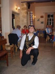 Restaurant staff member takes knee in restaurant in Cyprus