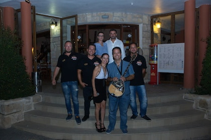 Performers outside of restaurant in Cyprus