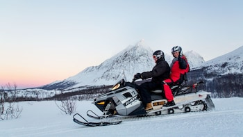 Snowmobile Tour in the Lyngen Alps with Hot Soup & Drinks