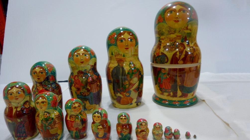 Show item 2 of 5. Russian nesting dolls at the Museum of Russian Art in Minnesota