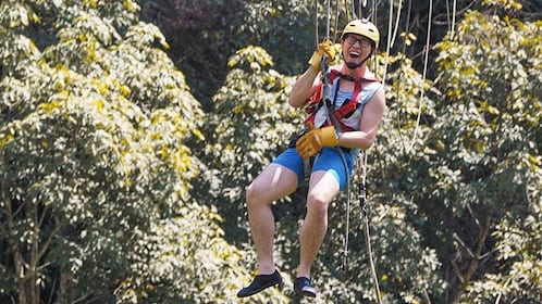 Man ziplining in Phuket