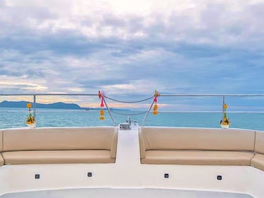 View from the catamaran in Thailand