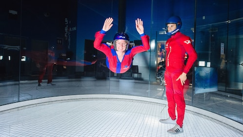 Woman and man at iFly Skydiving Experience